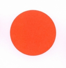 Etiket 35 mm rond fluor rood 1000/rol